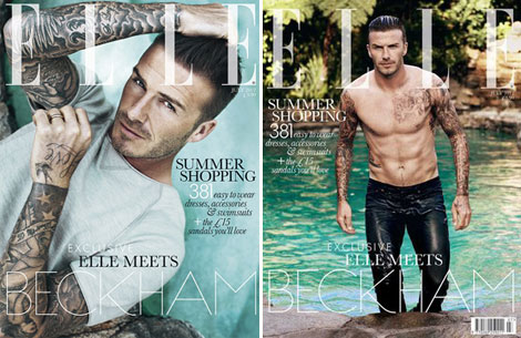 David Beckham, Elle Magazine's first male cover model