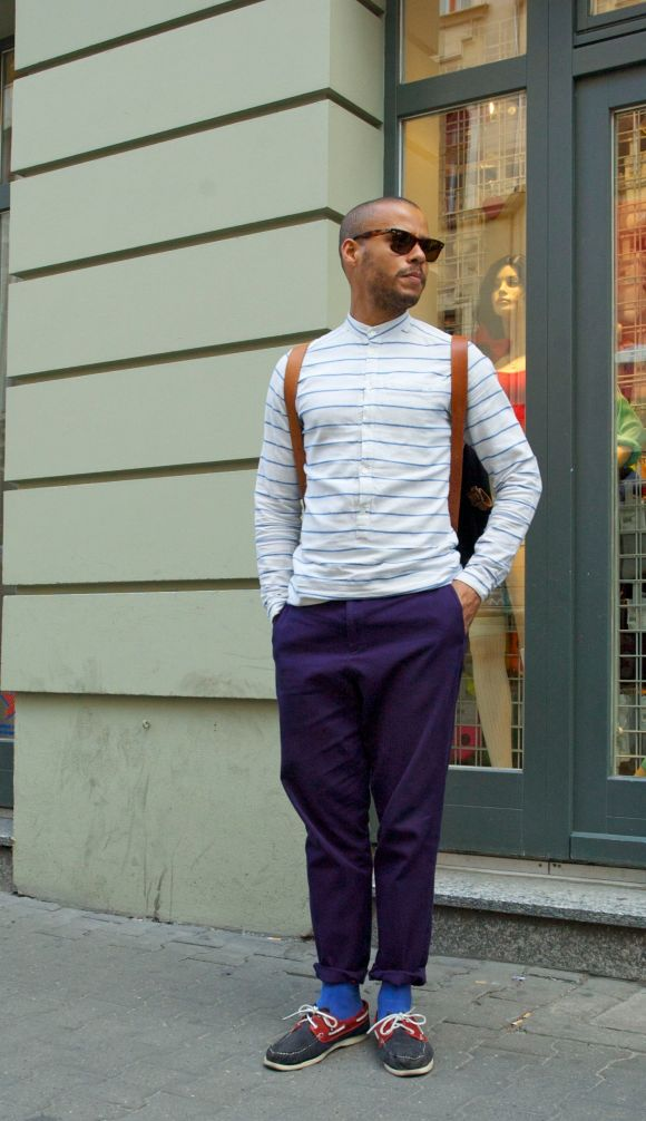 Street Style - Stripes and Deck Shoes