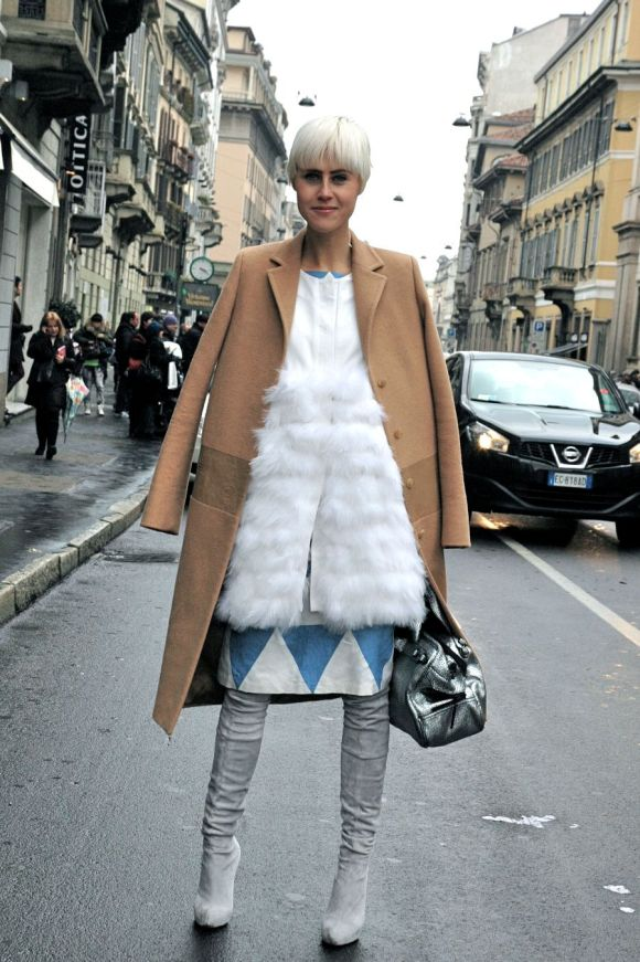 Milan Fashion Week A/W 2013 - Camel Coat at Blumarine
