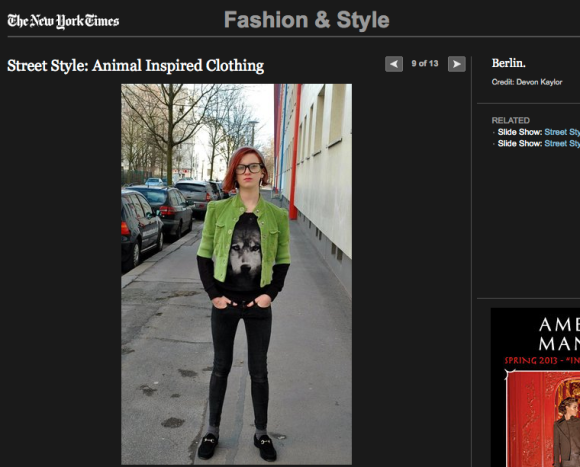 FCP in the New York Times: Animal Inspired Clothing