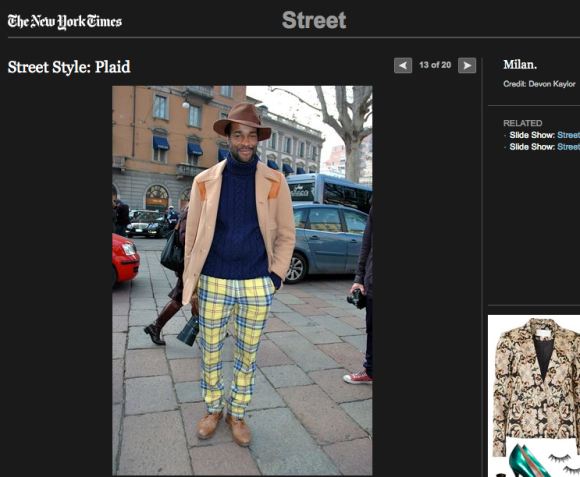 FCP in the New York Times Street Style: Plaid