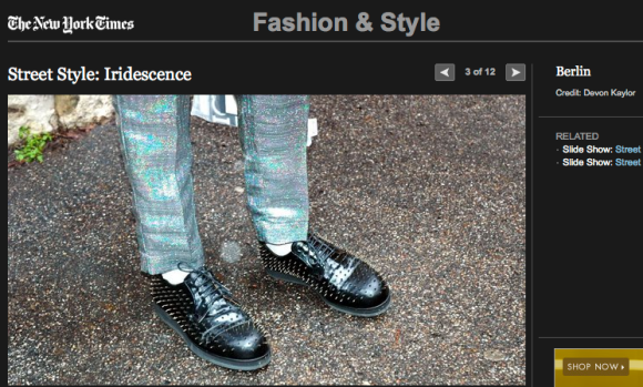 FCP in the New York Times Street Style: Iridescences