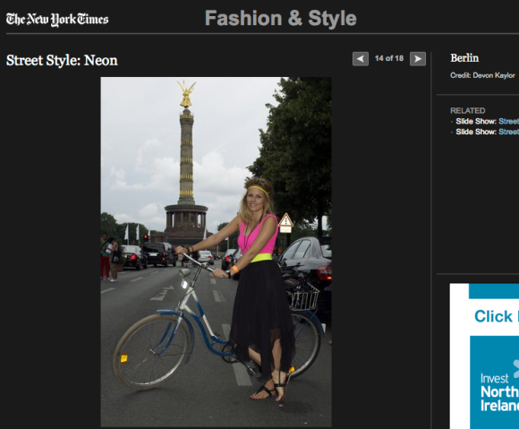 FCP in the New York Times Street Style: Neon