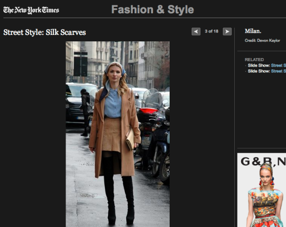 FCP in the New York Times Street Style: Silk Scaves