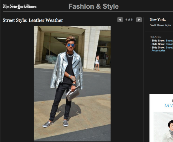 FCP in the NYT - Stret Style: Leather Weather 1