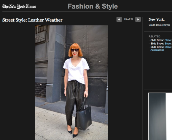 FCP in the NYT - Street Style: Leather weather 2