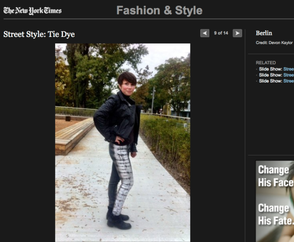 FCP in the New York Times - Street Style: Tie Dye