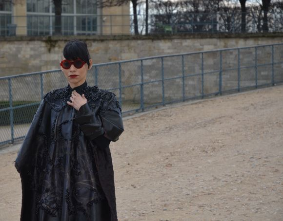 Lily Gatins, Tuileries - Paris Fashion Week AW 2014