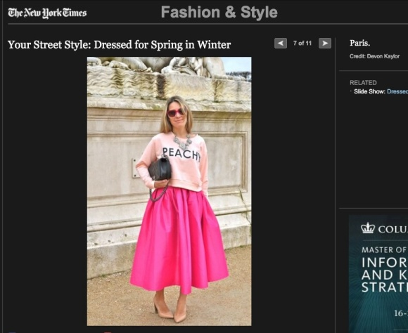 FCP in the NYT. Street Style a Dressed for Spring in Winter