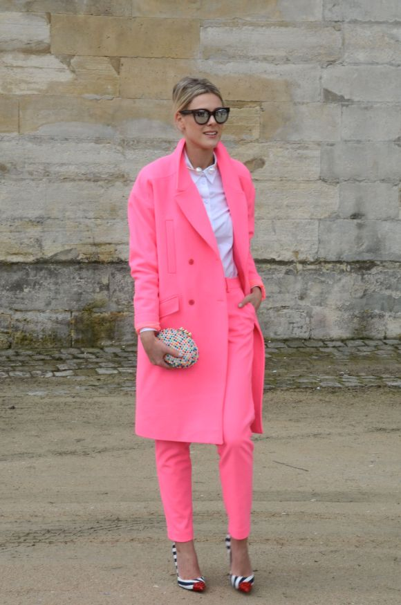 Neon Pink - Paris Fashion Week AW 2014