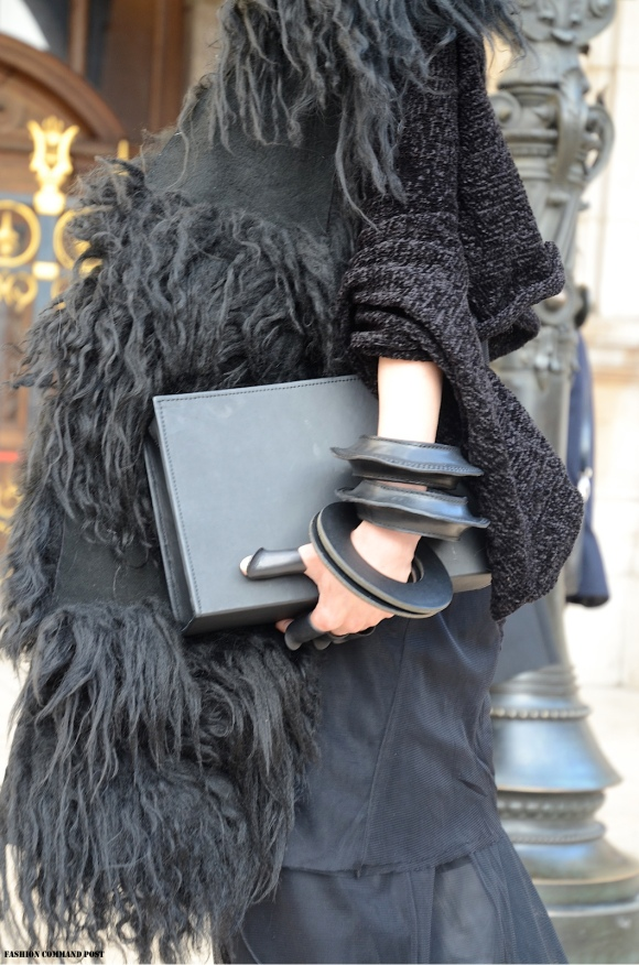 Details - All Black and Furry, Paris Fashion Week FW 2014